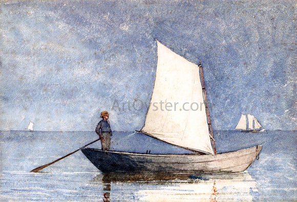 Winslow Homer Sailing a Dory - Canvas Art Print