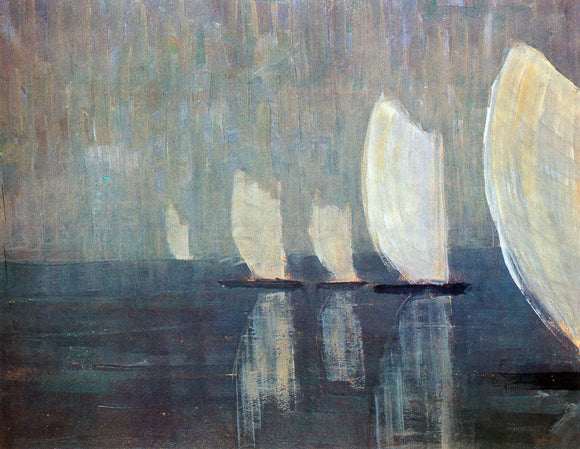 Mikalojus Ciurlionis Sailing Boats - Canvas Art Print