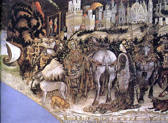 Antonio Pisanello Saint George and the Princess of Trebizond - Canvas Art Print