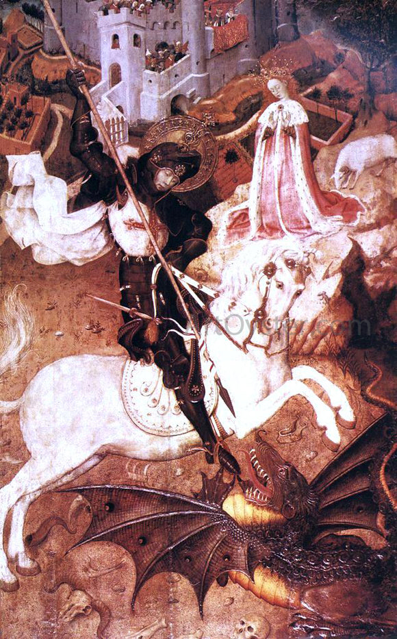 Bernat Martorell Saint George Killing the Dragon - Canvas Art Print