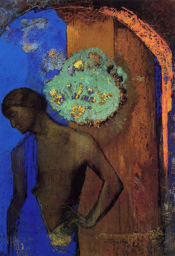 Odilon Redon Saint John (also known as The Blue Tunic) - Canvas Art Print