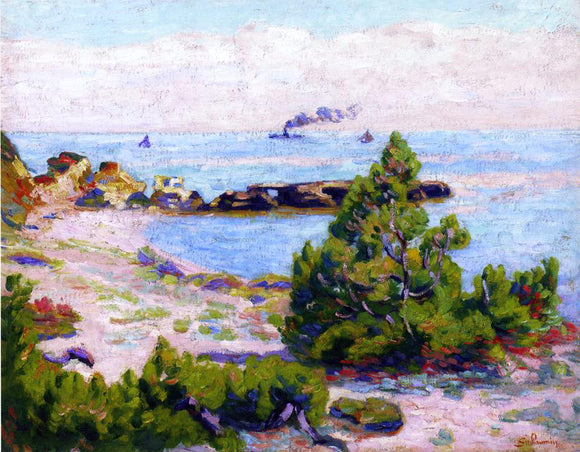 Armand Guillaumin Saint Palais, Pointe de la Perriere - Canvas Art Print