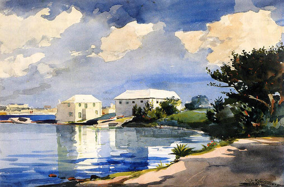 Winslow Homer Salt Kettle, Bermuda - Canvas Art Print
