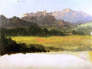 Frederic Edwin Church Salzburg, Austria, View of the Castle - Canvas Art Print