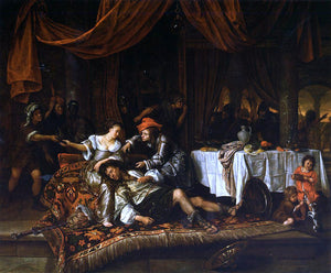 Jan Steen Samson and Delilah - Canvas Art Print