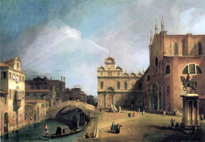 Canaletto Santi Giovanni e Paolo and the Scuola di San Marco - Canvas Art Print