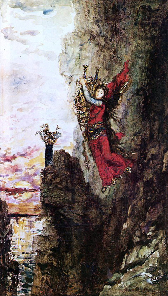 Gustave Moreau Sappho Leaping into the Sea - Canvas Art Print