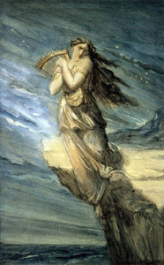 Theodore Chasseriau Sappho Leaping into the Sea from the Leucadian Promontory - Canvas Art Print