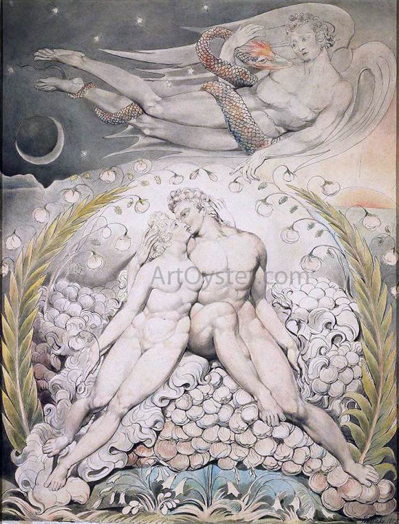 William Blake Satan Watching the Caresses of Adam and Eve - Canvas Art Print