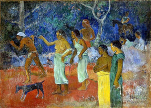 Paul Gauguin Scenes from Tahitian Live - Canvas Art Print