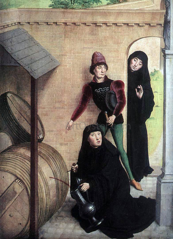 Simon Marmion Scenes from the Life of St Bertin (detail) - Canvas Art Print
