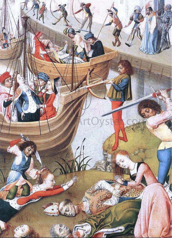 Master of the Legend of St.  Ursula Scenes from the Life of St Ursula (detail) - Canvas Art Print