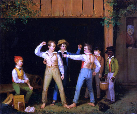 William Sidney Mount School Boys Quarreling - Canvas Art Print