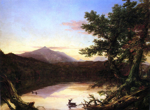 Thomas Cole Schroon Lake - Canvas Art Print