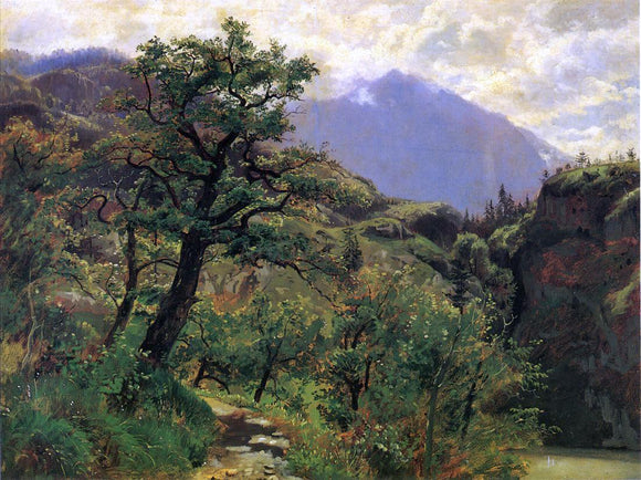 William Stanley Haseltine Schwyz near Brunnen - Canvas Art Print