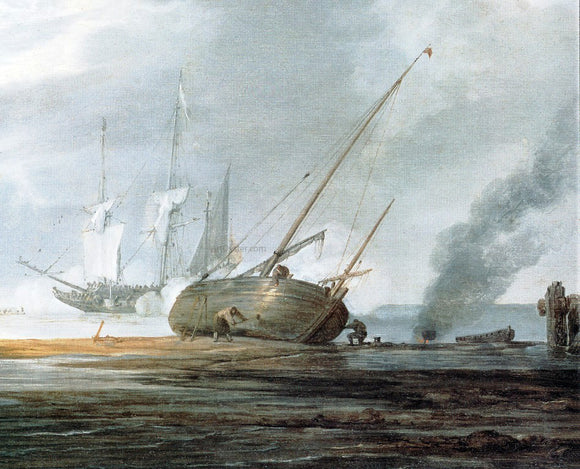 The Younger Willem Van de Velde Seascape [detail #1] - Canvas Art Print