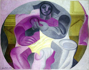 Juan Gris Seated Harlequin - Canvas Art Print