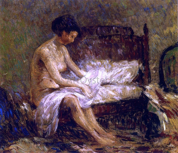 Robert Spencer Seated Nude - Canvas Art Print