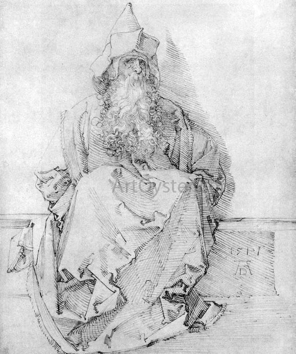 Albrecht Durer Seated Prophet - Canvas Art Print