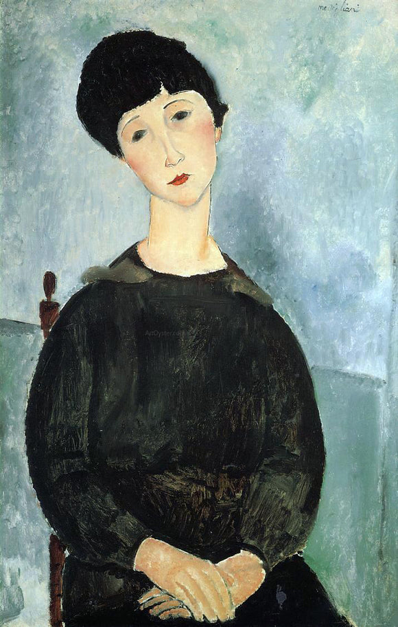Amedeo Modigliani Seated Young Woman - Canvas Art Print