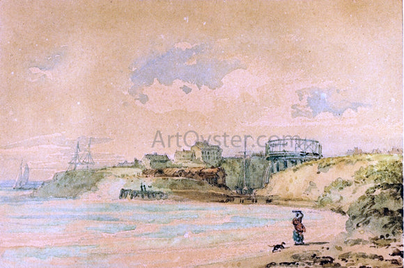Thomas Girtin Seaton Sluice, Northumberland - Canvas Art Print