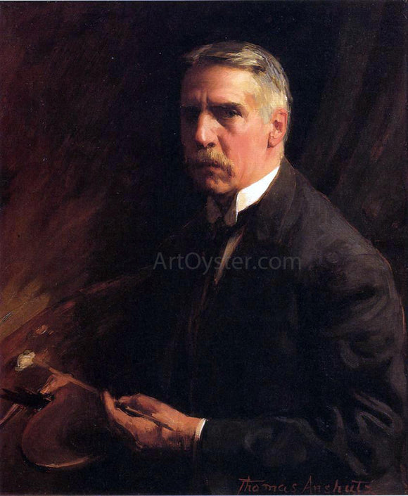 Thomas Pollock Anschutz Self Portrait - Canvas Art Print