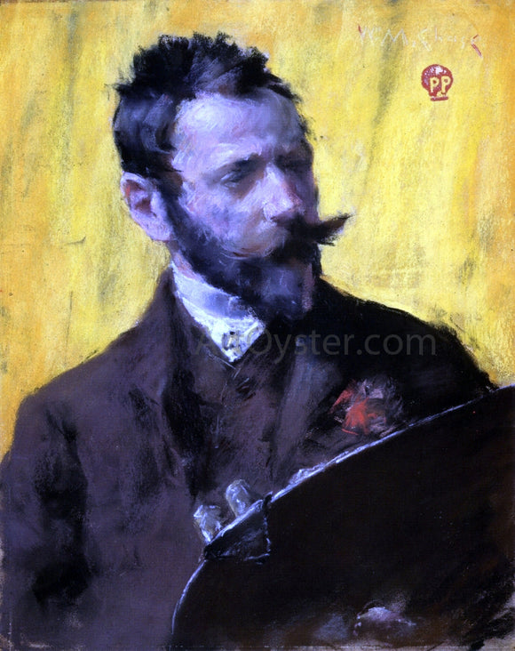 William Merritt Chase Self Portrait - Canvas Art Print