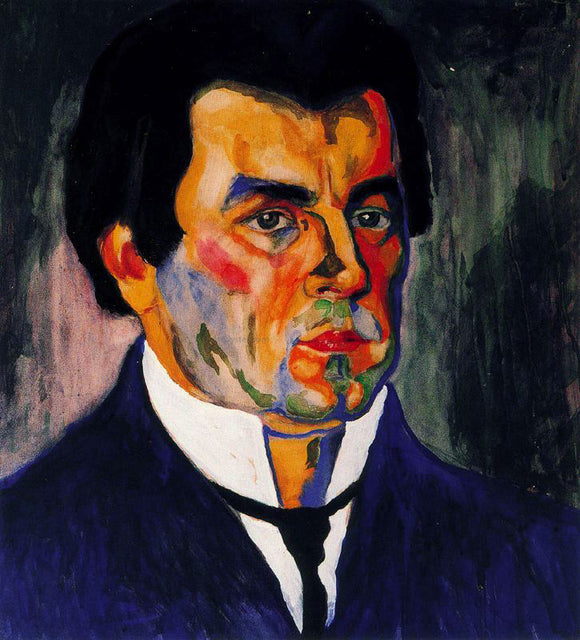 Kazimir Malevich Self Portrait - Canvas Art Print