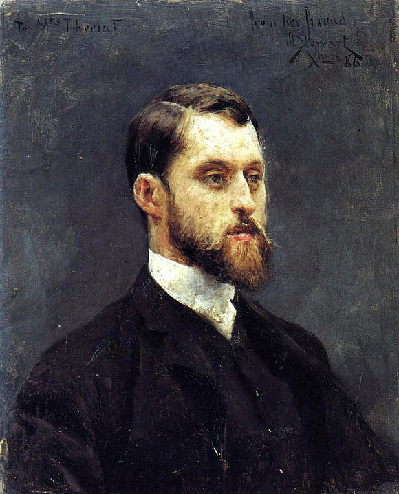 Julius LeBlanc Stewart Self Portrait - Canvas Art Print