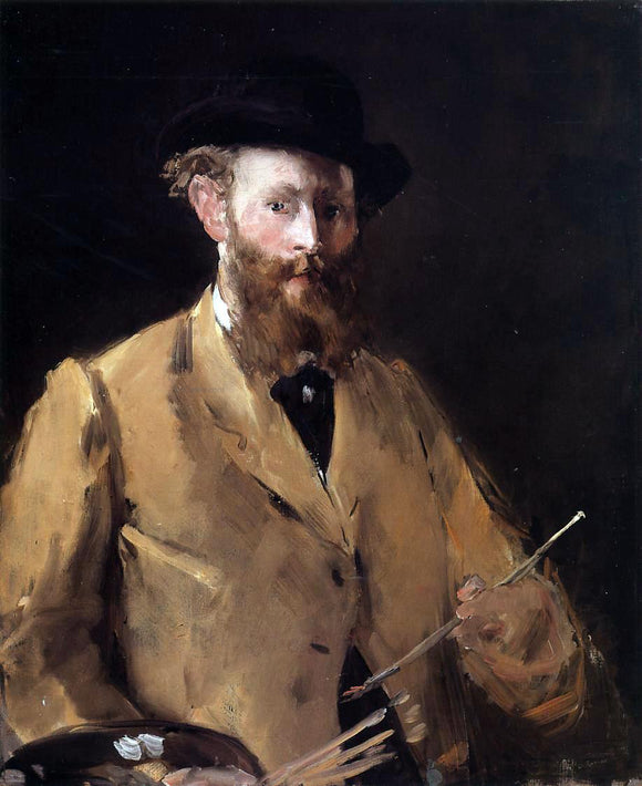 Edouard Manet Self Portrait with Palette - Canvas Art Print