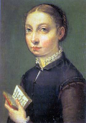 Sofonisba Anguissola Self-Portrait - Canvas Art Print