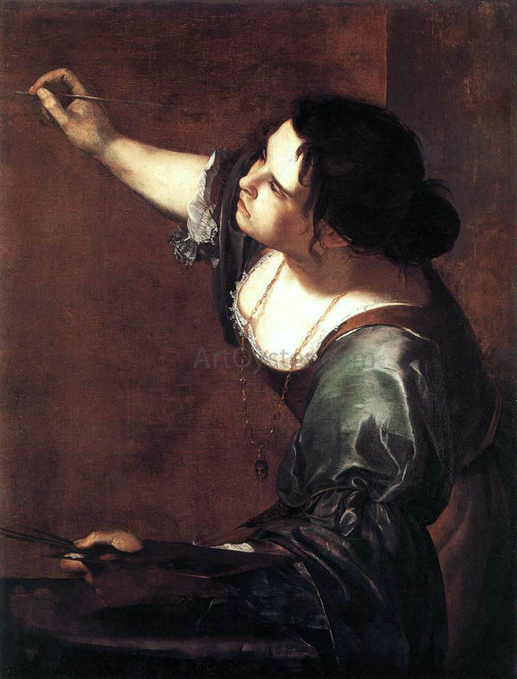 Artemisia Gentileschi Self-Portrait as the Allegory of Painting - Canvas Art Print