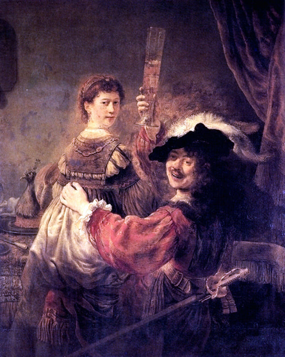 Rembrandt Van Rijn Self-portrait With Saskia - Canvas Art Print