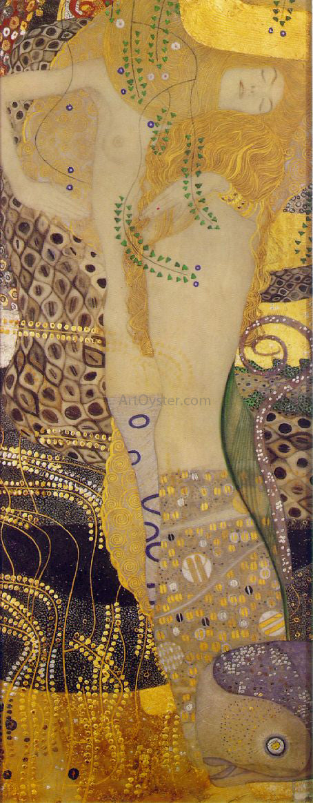 Gustav Klimt Serpents I - Canvas Art Print