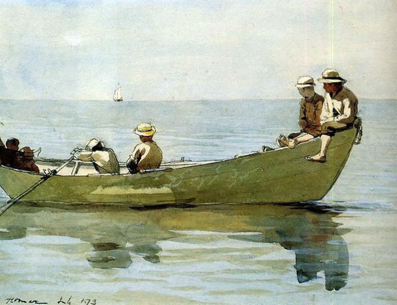 Winslow Homer Seven Boys in a Dory - Canvas Art Print