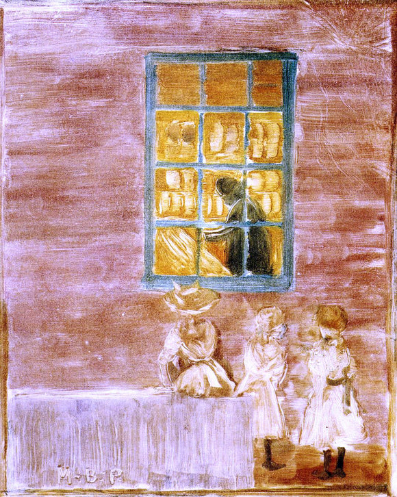Maurice Prendergast Shadow (also known as Children by a Window) - Canvas Art Print
