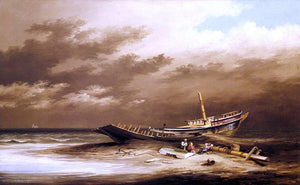 Xanthus Russell Smith Shipwreck - Canvas Art Print