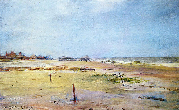 William Merritt Chase Shore Scene - Canvas Art Print