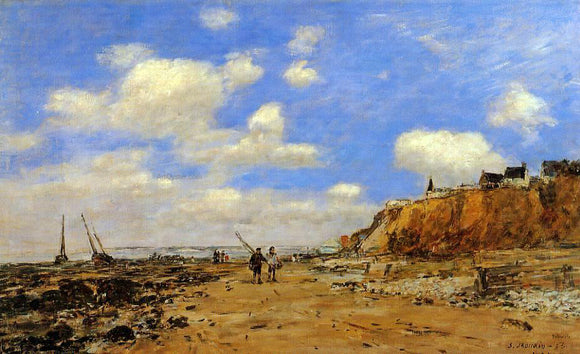 Eugene-Louis Boudin Shoreline with Rising Tide, October - Canvas Art Print