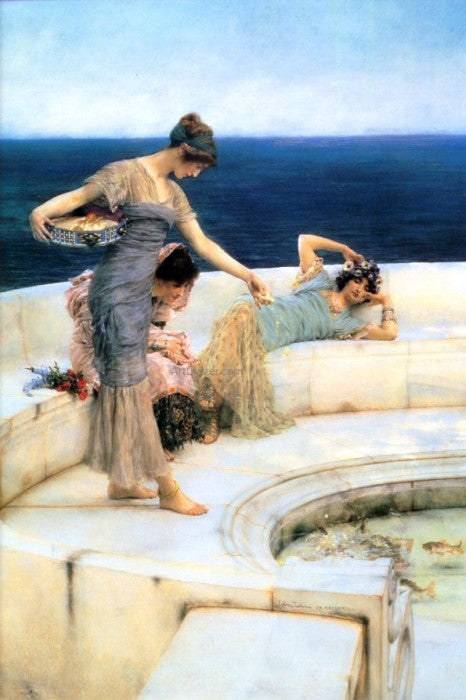 Sir Lawrence Alma-Tadema Silver Favourites - Canvas Art Print