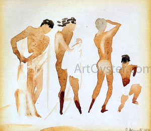 Charles Demuth Simi-Nude Figures - Canvas Art Print