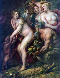 Peter Paul Rubens Sine Cerere et Baccho Friget Venus - Canvas Art Print