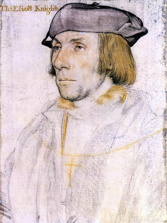 The Younger Hans Holbein Sir Thomas Eliot - Canvas Art Print