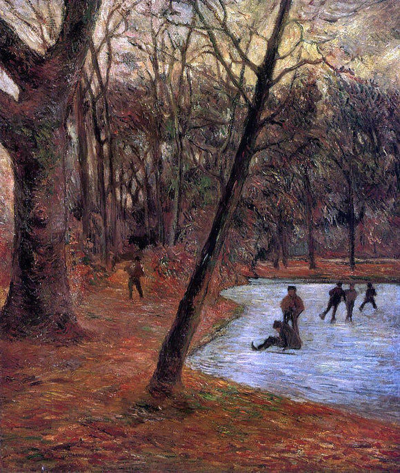 Paul Gauguin Skaters in Fredericksberg Park - Canvas Art Print
