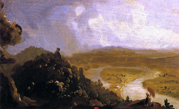 Thomas Cole Sketch for 'The Oxbow' - Canvas Art Print