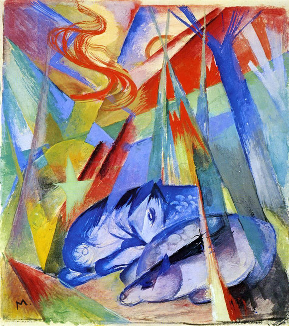 Franz Marc Sleeping Animals - Canvas Art Print