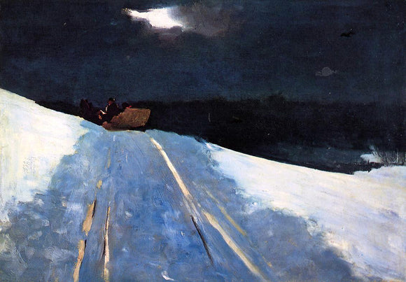 Winslow Homer Sleigh Ride - Canvas Art Print