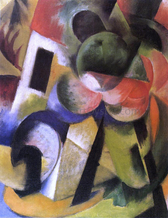 Franz Marc Small Composition II - Canvas Art Print