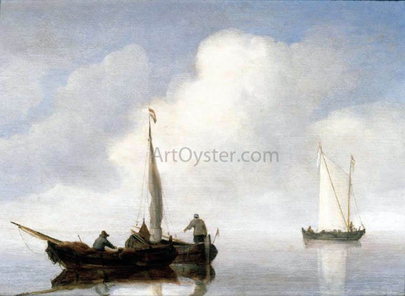 The Younger Willem Van de  Velde Small Craft in a Calm off the Dutch Coast - Canvas Art Print