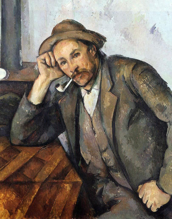 Paul Cezanne Smoker - Canvas Art Print